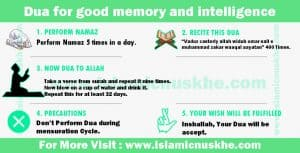 Dua for good memory and intelligence