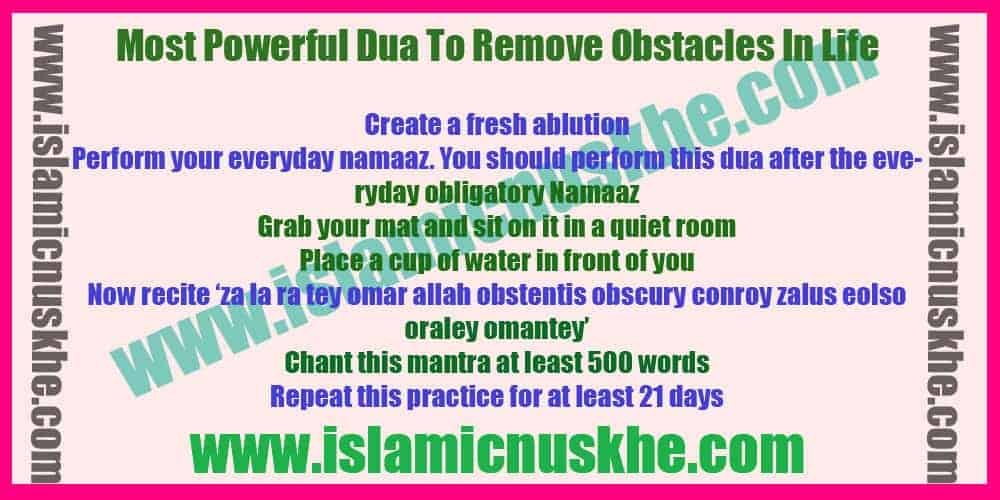 Most Powerful Dua To Remove Obstacles In Life