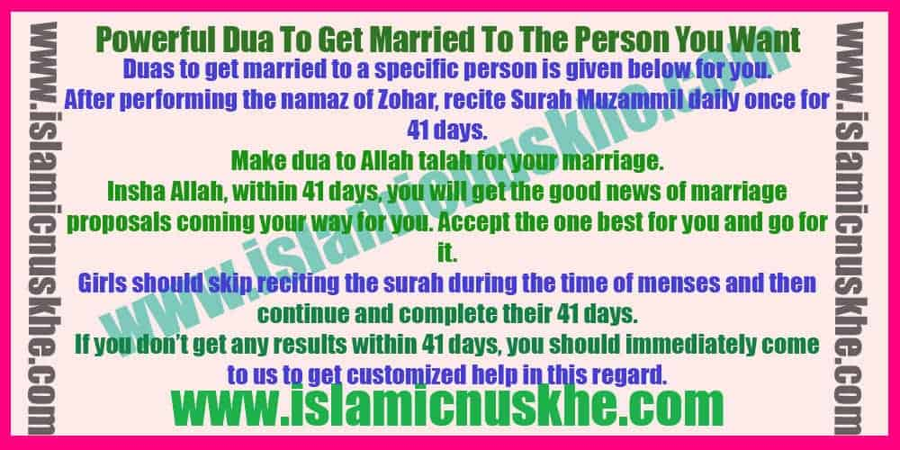 Powerful Dua To Get Married To The Person You Want