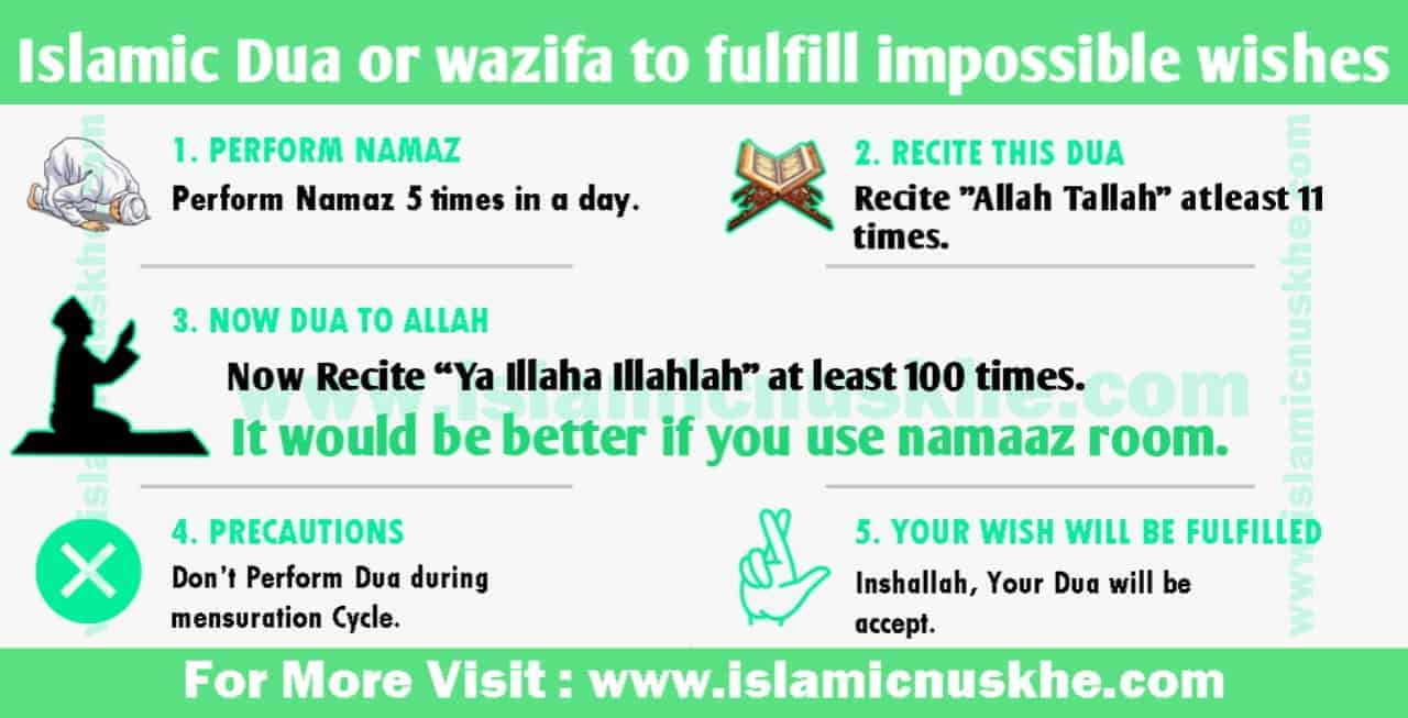 Islamic Dua or wazifa to fulfill impossible wishes