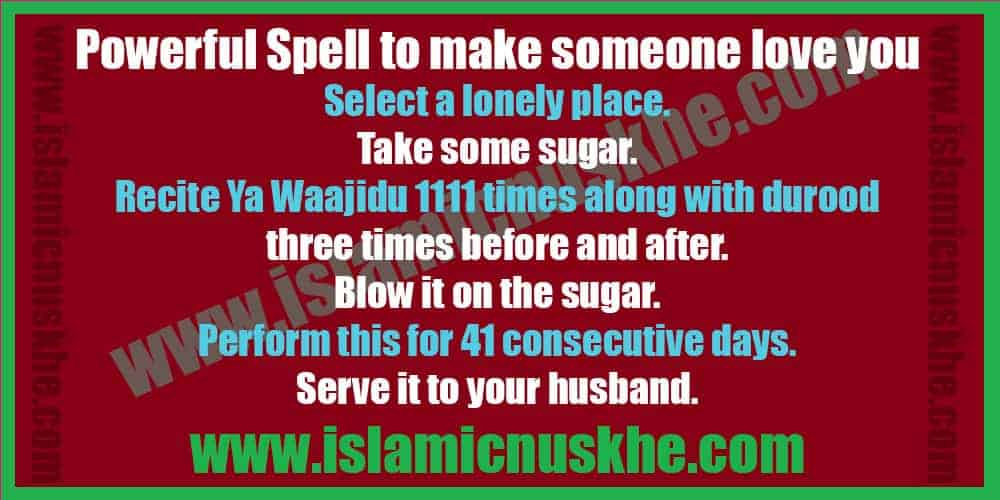 Powerful Spell to make someone love you