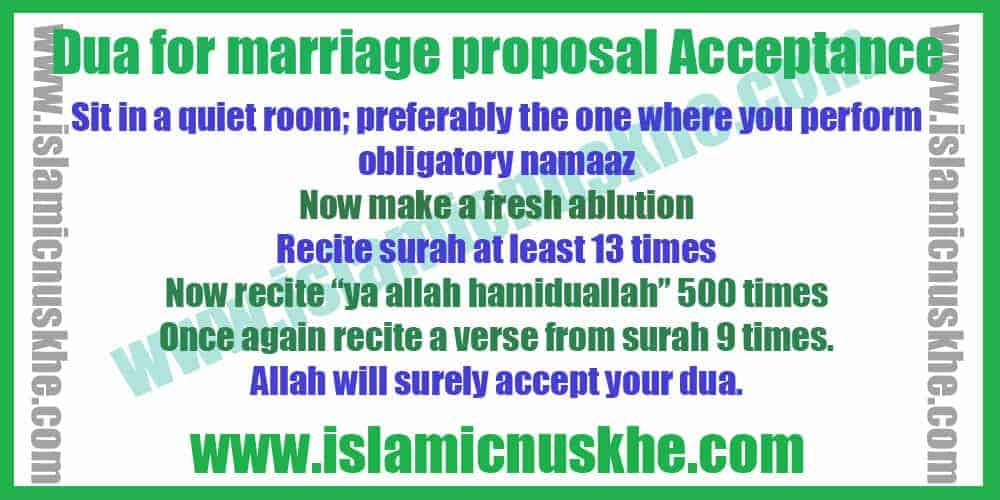 perform Dua For Immediate Marriage Proposal