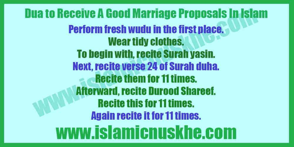 Dua to Receive A Good Marriage Proposals In Islam