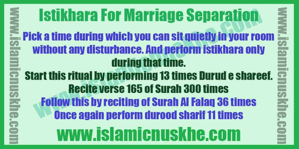 Powerful stikhara For Marriage Separation