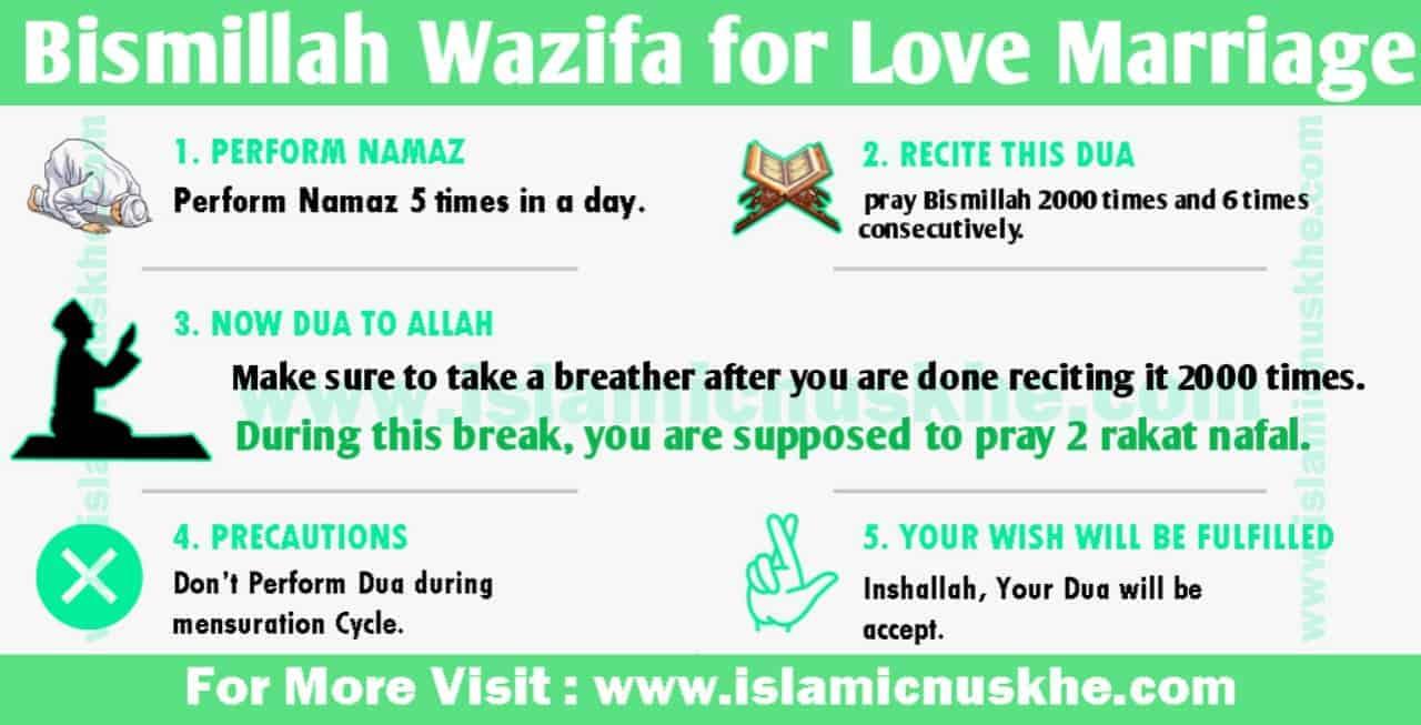 Powerul Bismillah Wazifa for Love Marriage