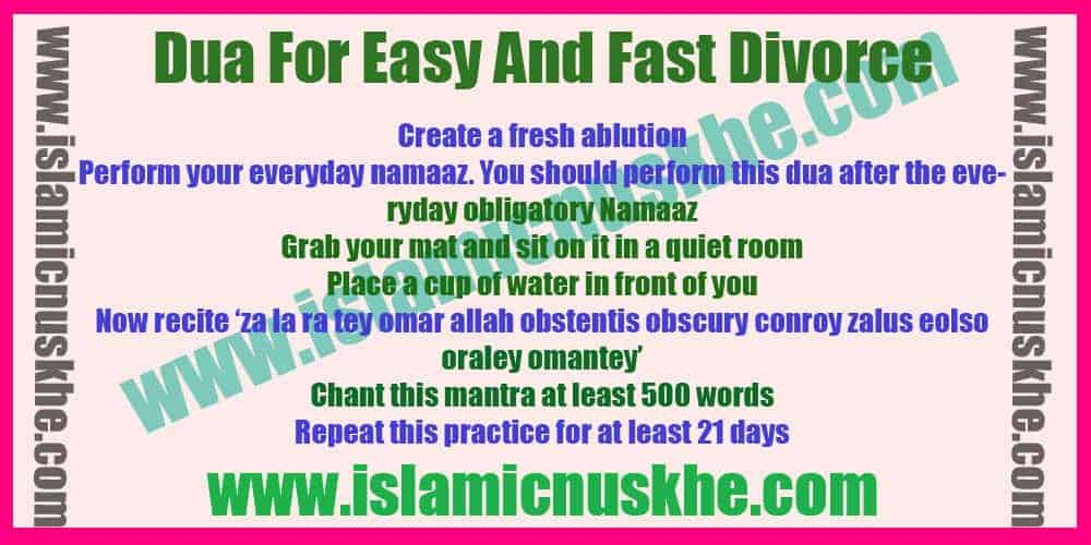 Best Powerful Dua For Easy And Fast Divorce