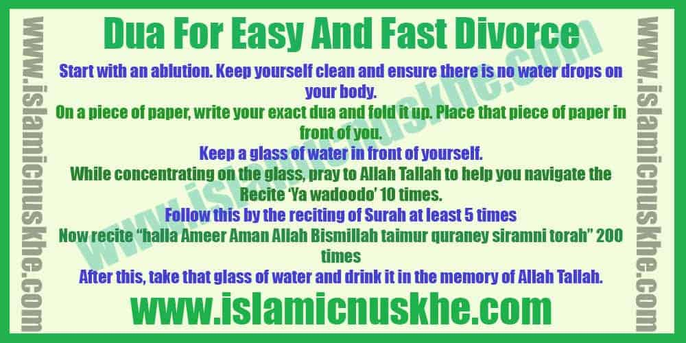 Powerful Dua For Easy And Fast Divorce