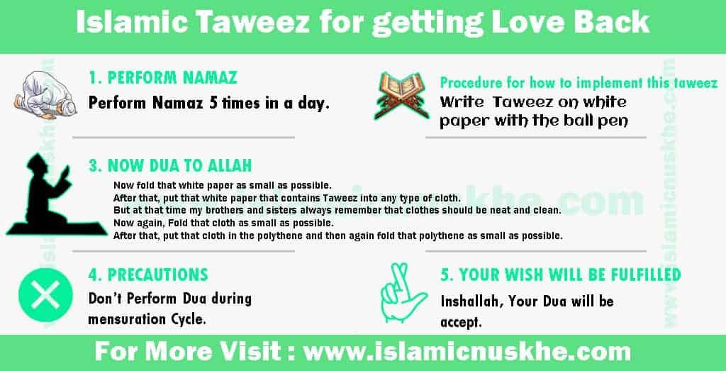 Powerful Islamic Taweez for getting Love Back