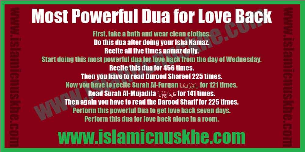 Most Powerful Dua for Love Back