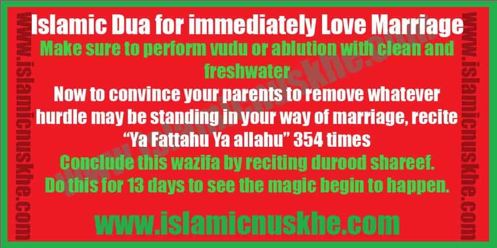 Powerful Islamic Dua for immediately Love Marriage