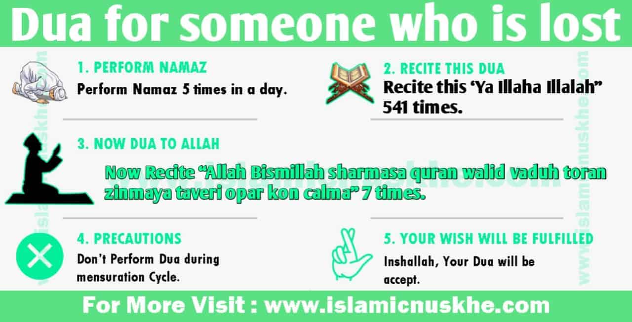 Dua For Someone Who Is Lost