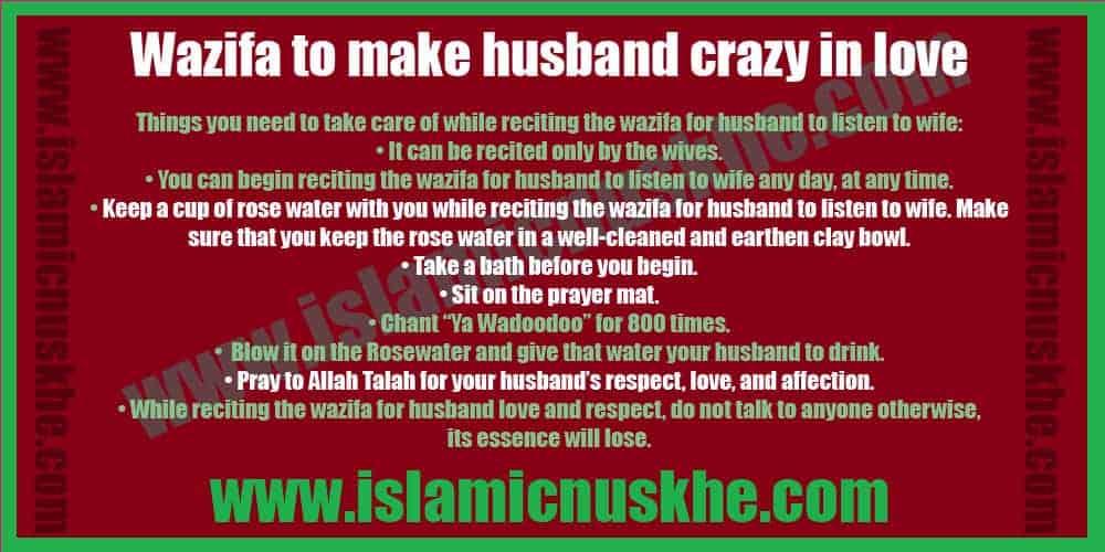 Powerful Wazifa to make husband crazy in love