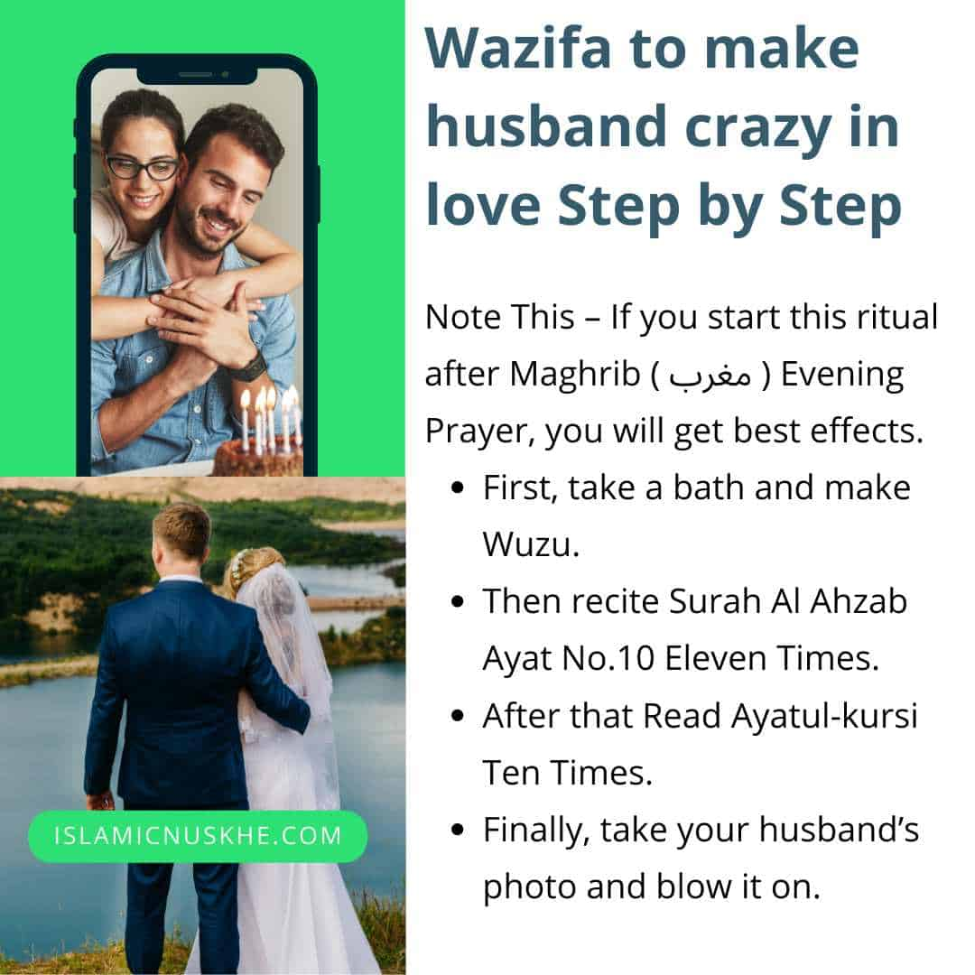 Here is Wazifa to make husband crazy in love Step by Step
