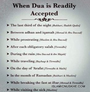 Signs that your dua is accepted
