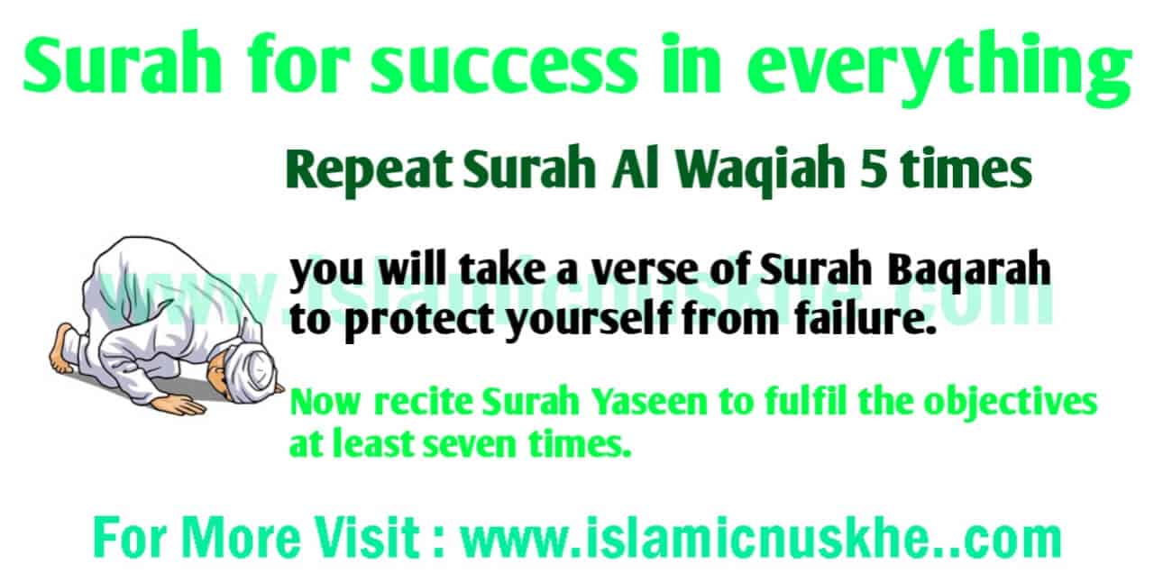 Surah for success in everything.