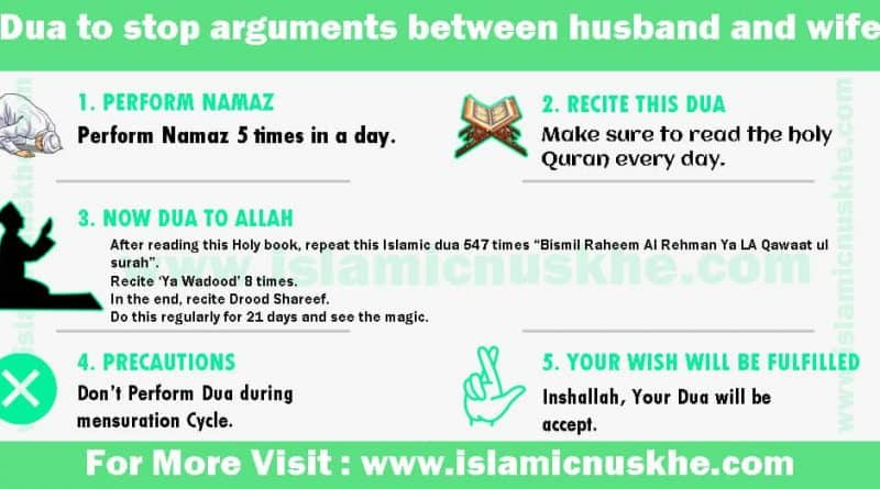 Best Dua to stop arguments between husband and wife