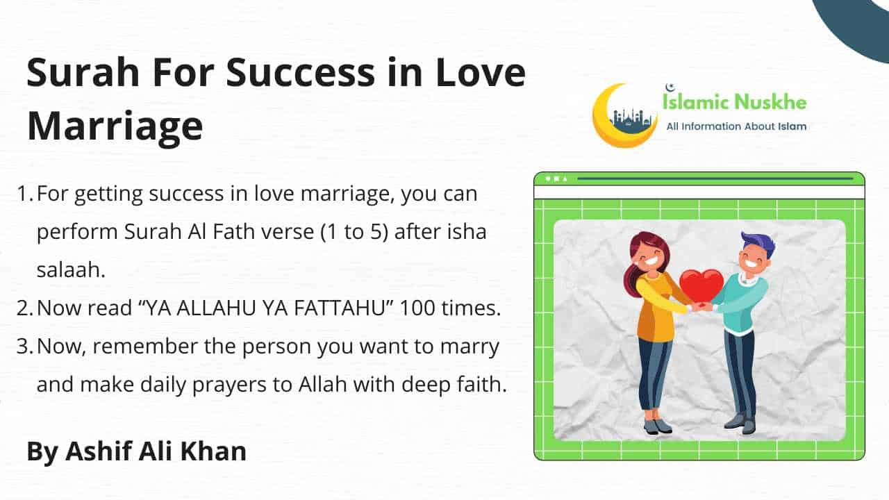 Is there any Surah For Success in Love Marriage