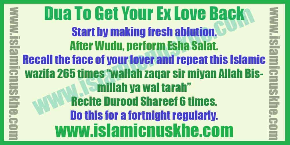 Powerful Dua To Get Your Ex Love Back