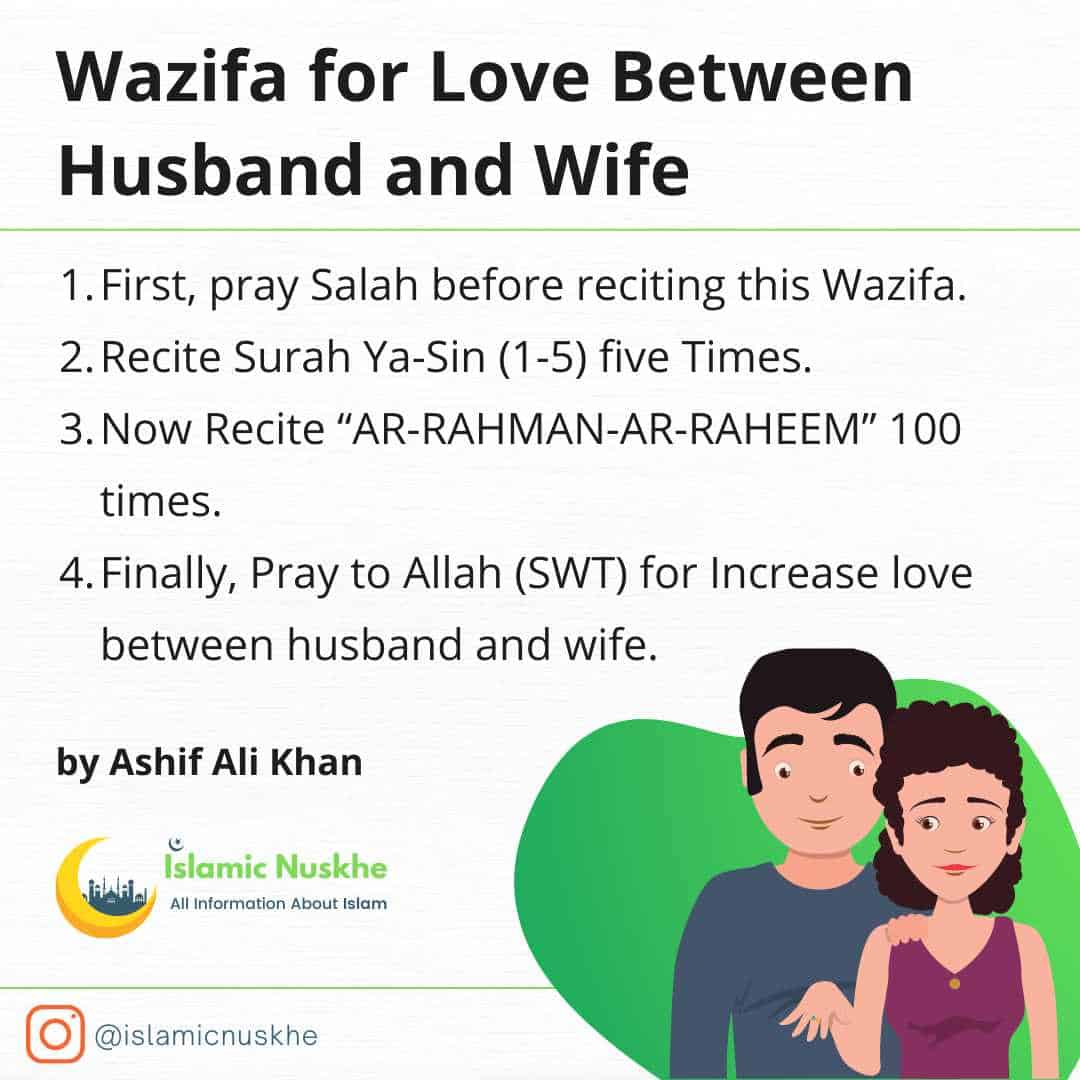 Procedure to Perform Wazifa for Love Between Husband and Wife