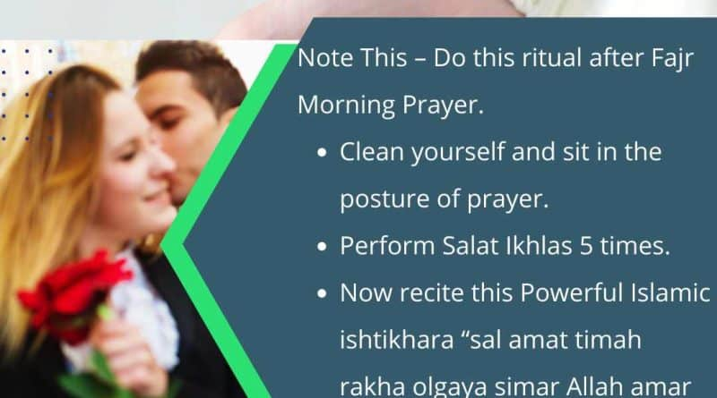 Here is The Process of Salat Istikhara for Lost love Step by Step