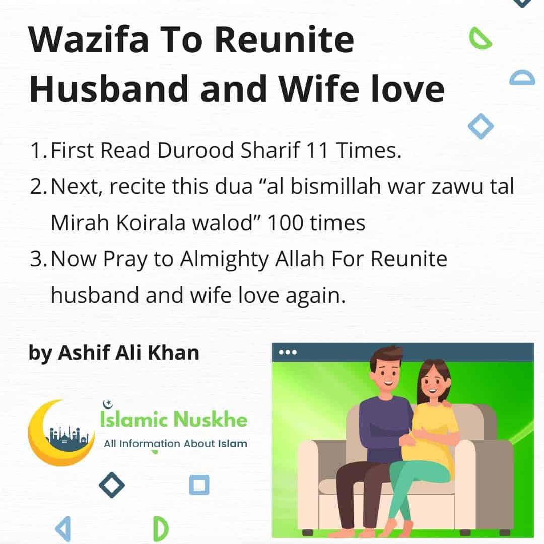 Here is Wazifa To Reunite Husband and Wife love