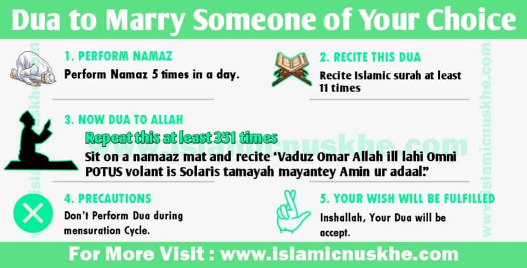 Dua or Wazifa to marry someone of your choice