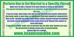 Perform Dua to Get Married to a Specific Person