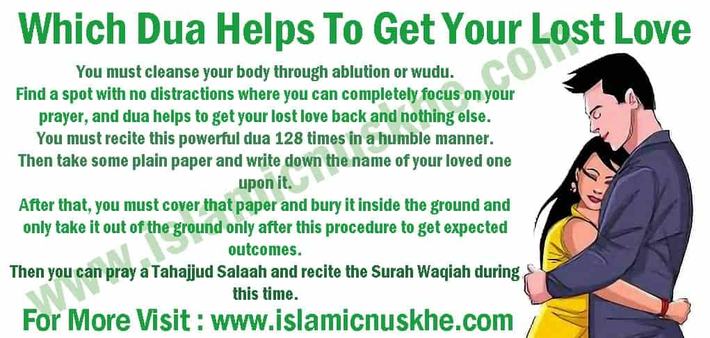 Best Dua Helps To Get Your Lost Love Back