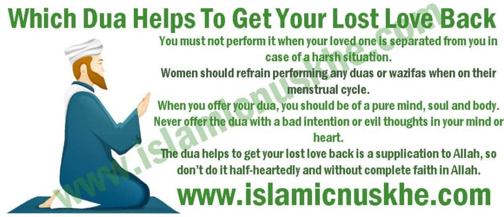 Dua Helps To Get Your Lost Love Back