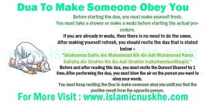 Dua To Make Someone Obey You