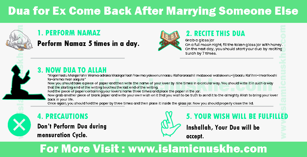 Dua for Ex Come Back After Marrying Someone Else