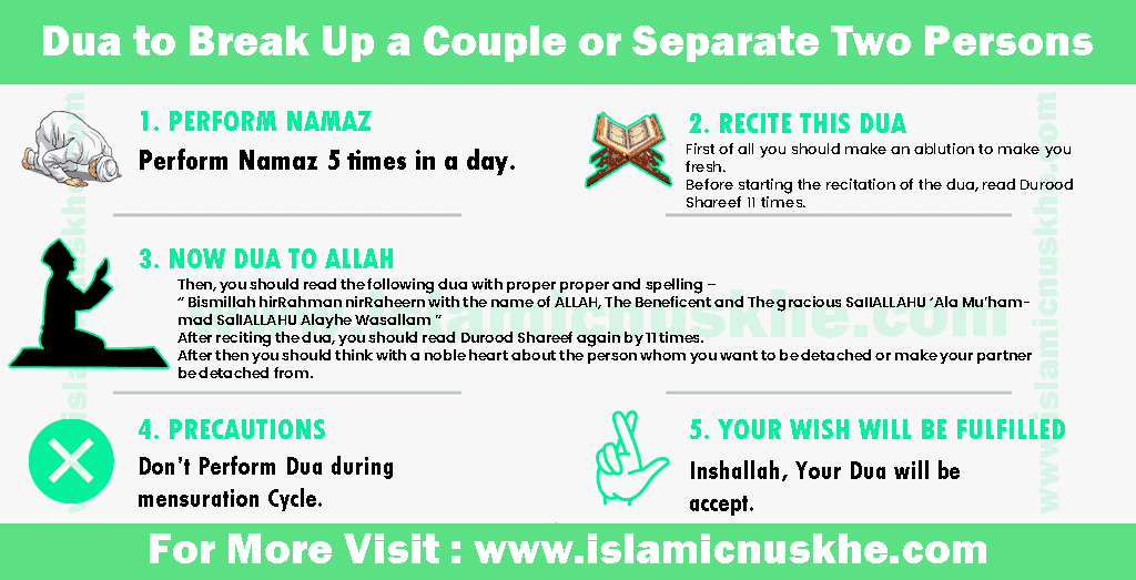 Dua to Break Up a Couple or Separate Two Persons