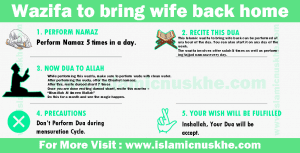 wazifa to bring wife back home