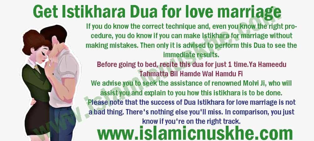 Get Istikhara Dua for love marriage