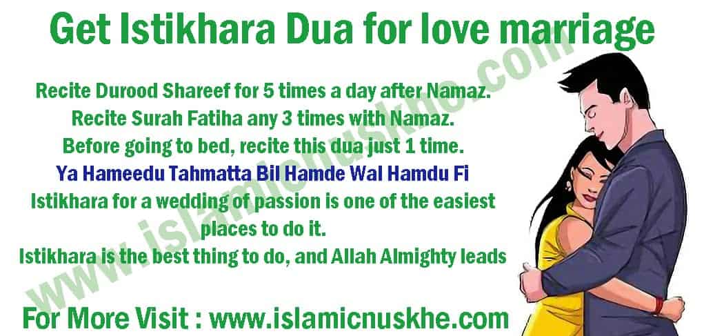 Working Istikhara Dua for love marriage