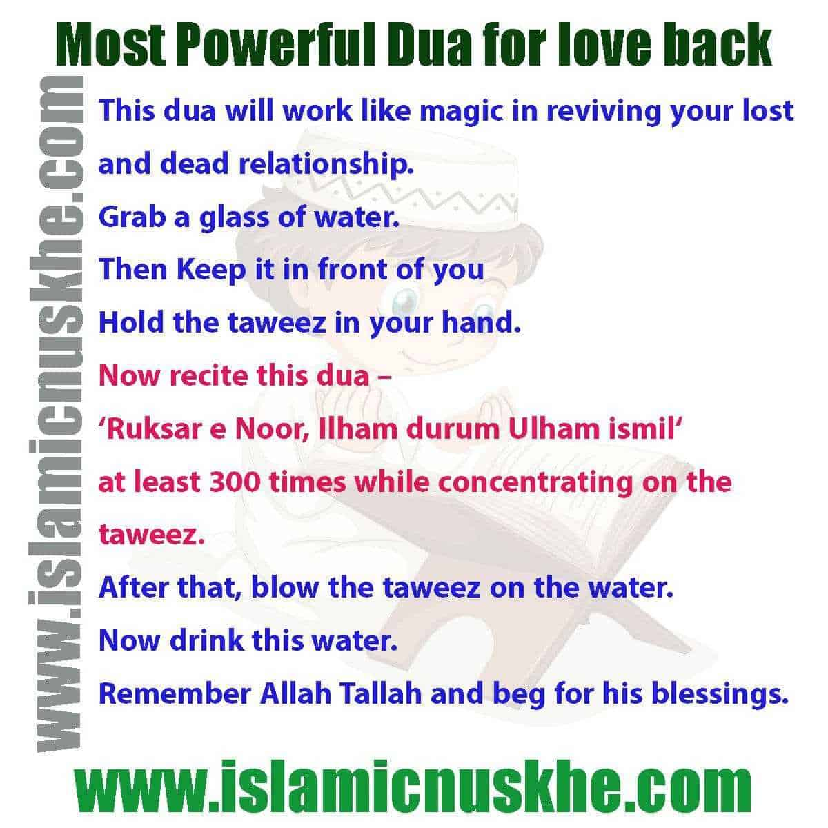How To Perform Islamic Dua For Getting True Love Back Step by Step