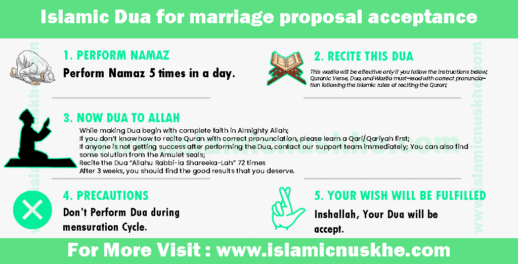 Islamic Dua for marriage proposal acceptance