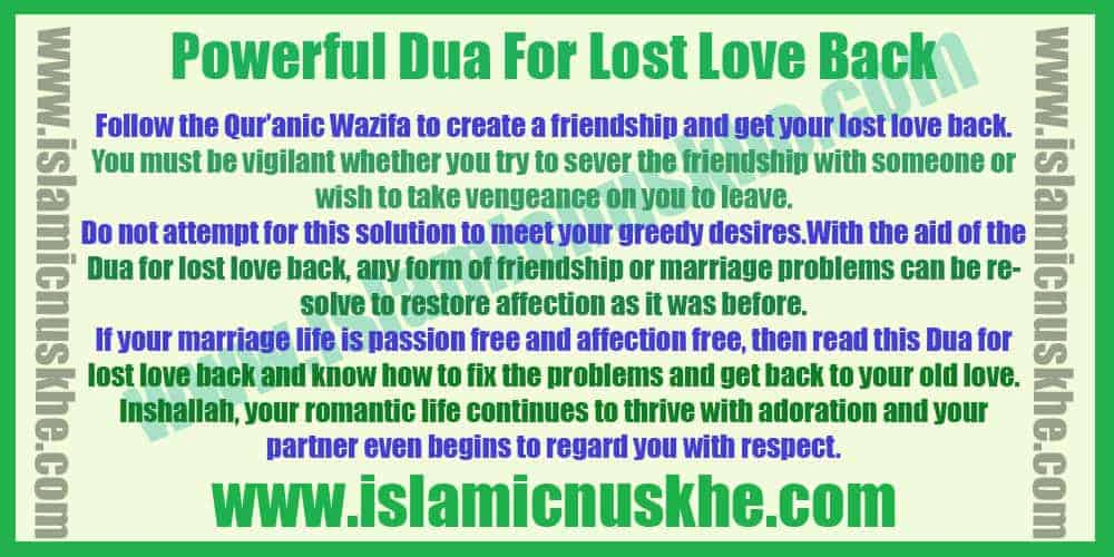Powerful Dual For Lost Love Back