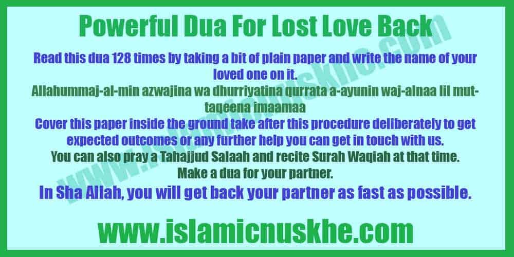 best dua for lost love back