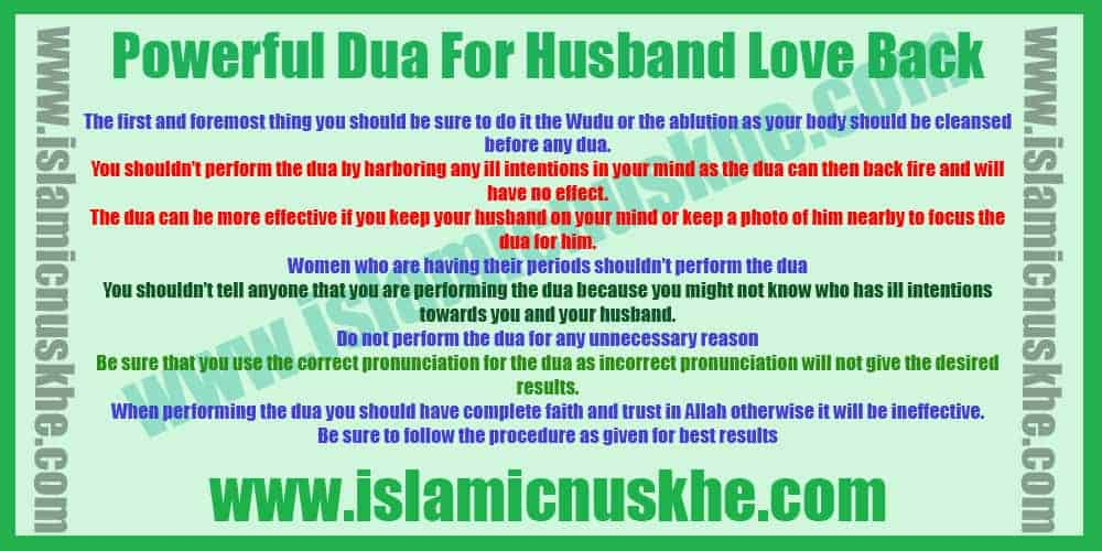Best Dua for Husband Love Back