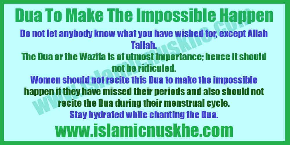 Perform Dua to Make the Impossible Happen
