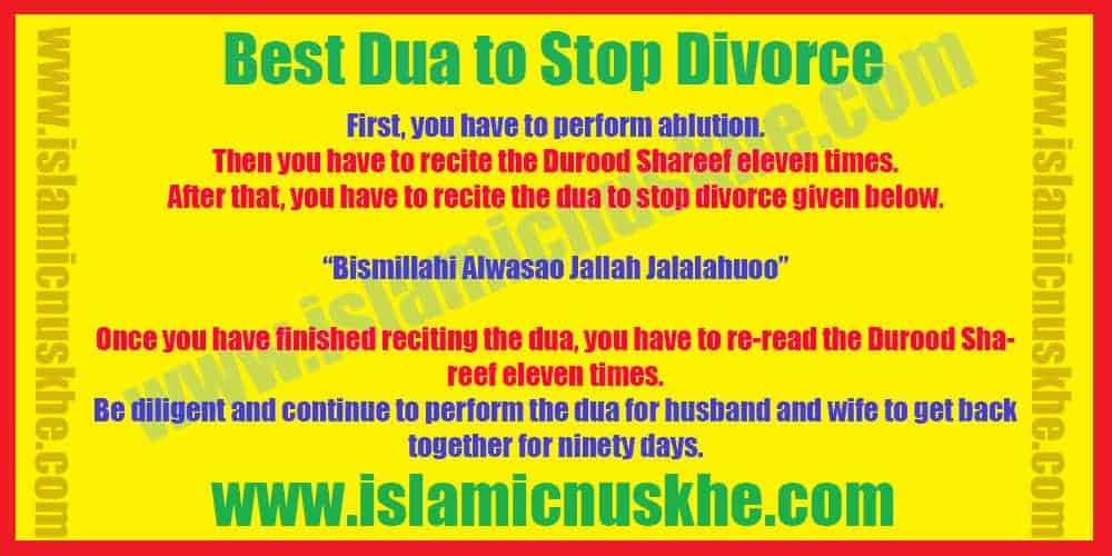 Best Dua to Stop Divorce