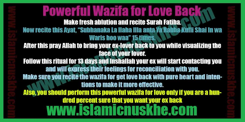 Best Powerful Wazifa for Love Back