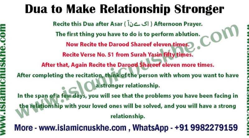 Dua to Make Relationship Stronger