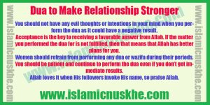 Perform Dua to Make Relationship Stronger