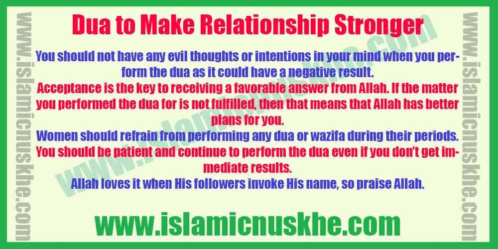 Perform Dua to Make Relationship Stronger