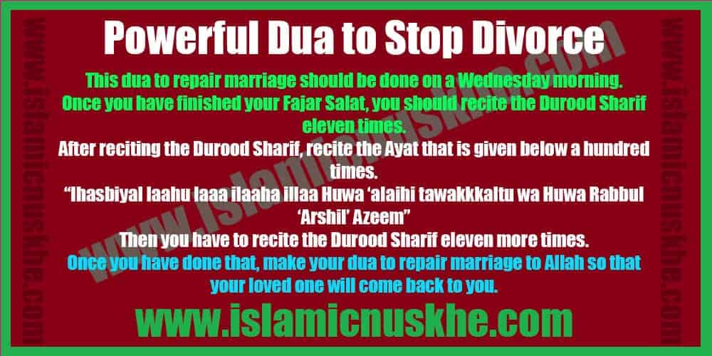 Powerful Dua to Stop Divorce