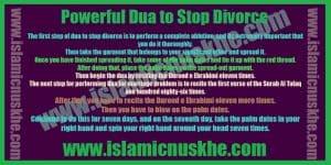 Precautions to Perform Dua to Stop Divorce