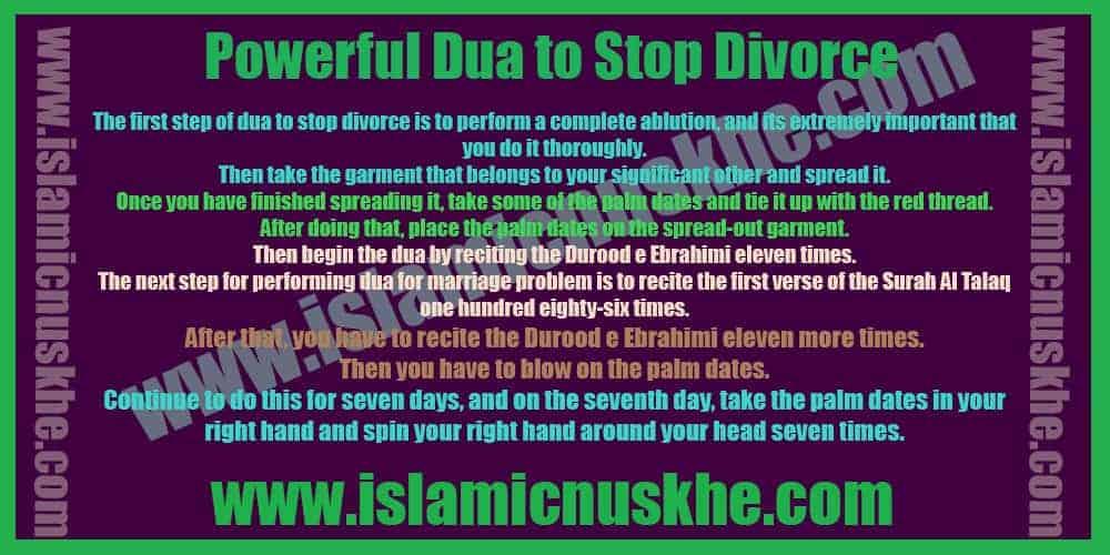 Precautions to Perform Dua to Stop Divorce