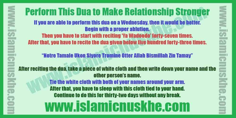 Procedure to Perform Dua to Fix Broken Relationship